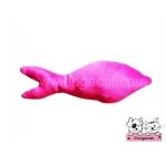 ของเล่นแมว ตุ๊กตาปลาแคทนิป สีชมพู