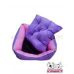 ที่นอนหมา เบาะสุนัข สีม่วงชมพู