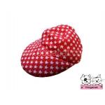 หมวกแกปสุนัข ลายดาว สีแดง