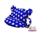 หมวกสุนัขมีหู ลายดาว สีน้ำเงิน