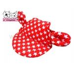 หมวกสุนัขมีหู ลายดาว สีแดง