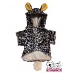 เสื้อสุนัข เสื้อแมว ชุดลายเสือน้ำตาล มี hood